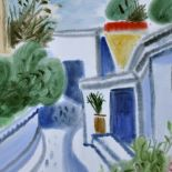 Blue Patio, 2011, watercolour, 42х53