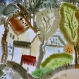 Houses in the Woods, 2010, watercolour, 42x53