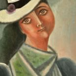 Lady in a White Hat, 2011, oil painting, 65 x 53