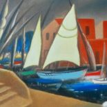 Marina in Marocco, 2010, oil painting, 53 x 69