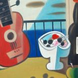 Still Life Red Guitar. 2009. oil painting, 53 x 65
