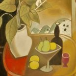 Still Life on the Balcony, 2005, oil painting, 92 x 73