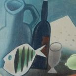 Still life with a Black Bottle, 2008, oil painting, 65 x 74