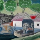 Water Mill, 2011, oil painting, 55 x 82