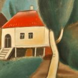 White House in the Garden, 2010, oil painting, 60 x 80